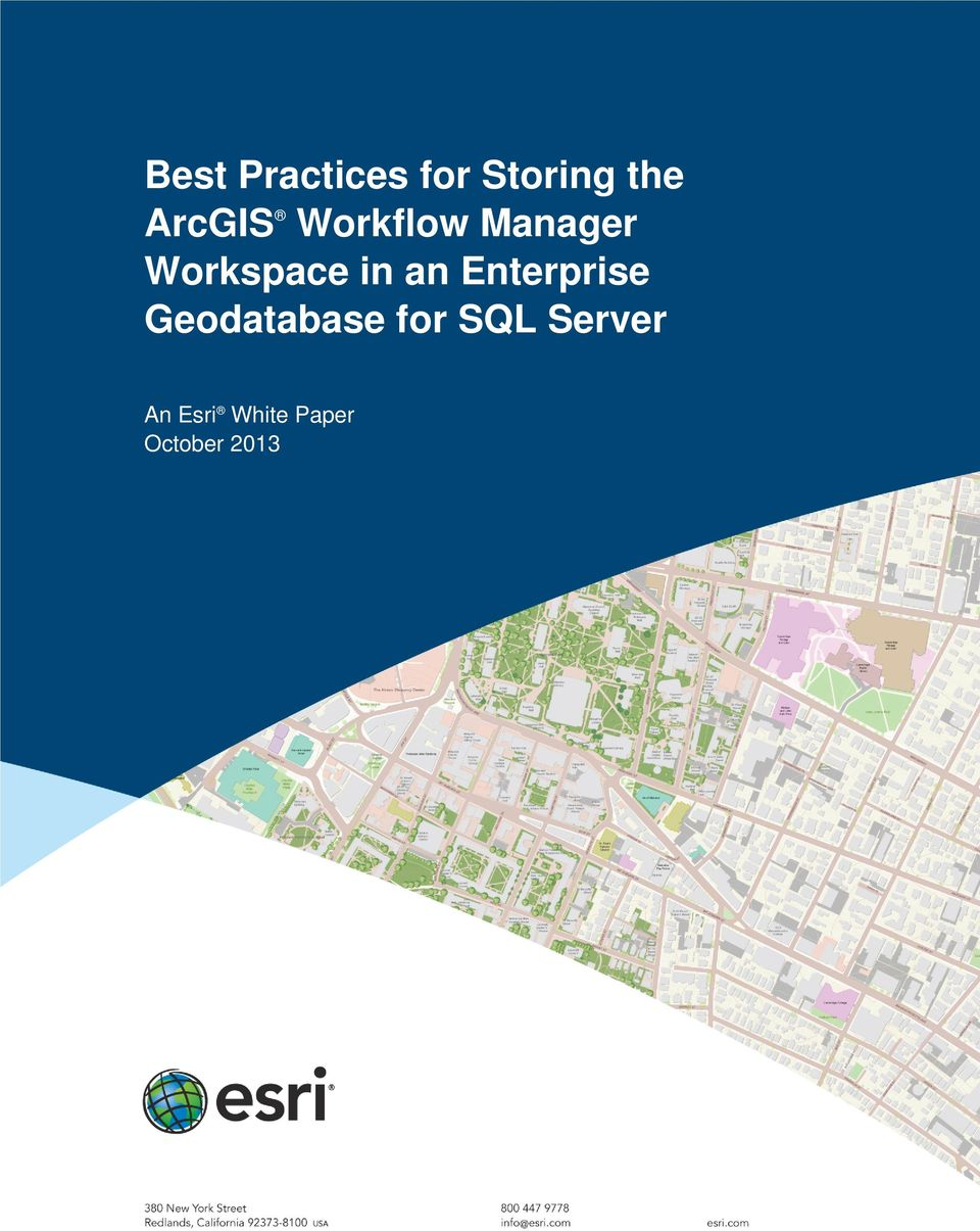 Best Practices for Storing the ArcGIS Workflow Manager