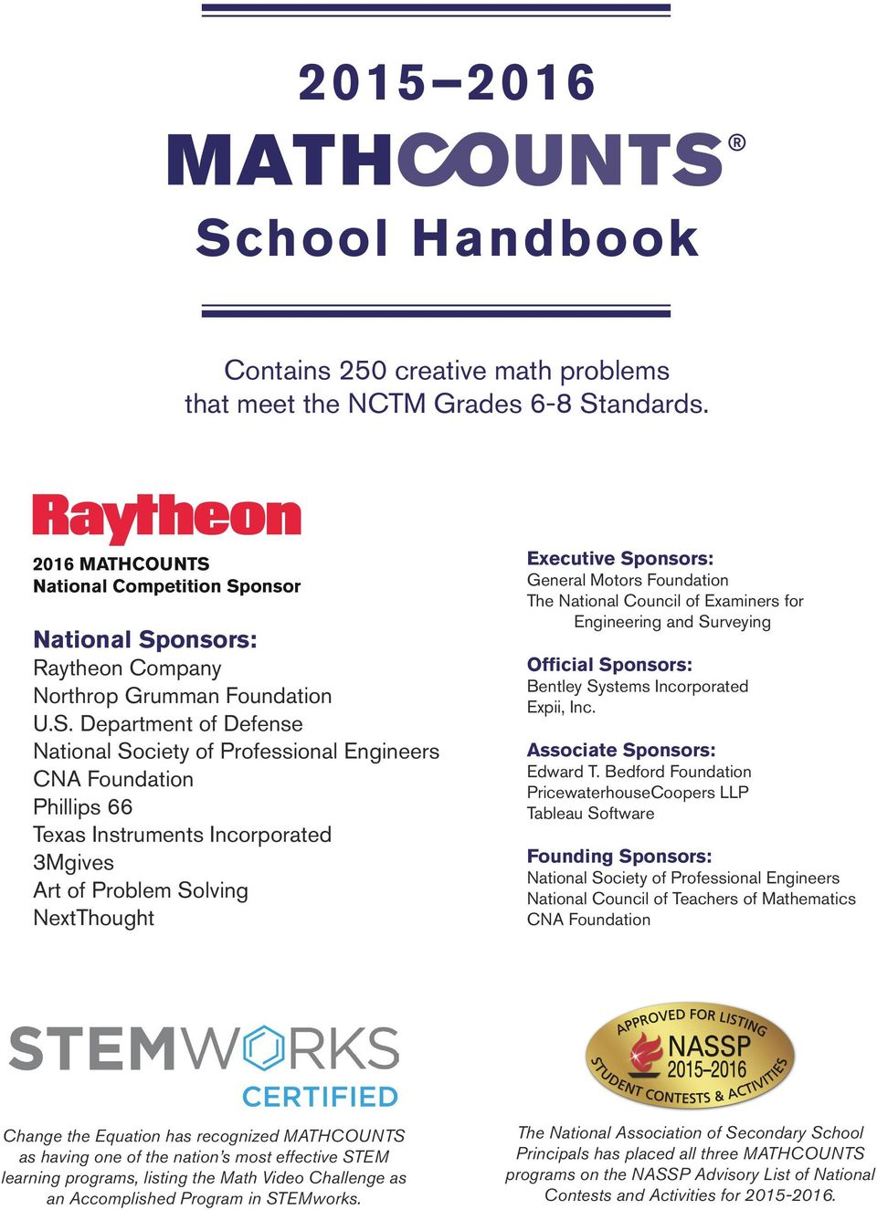 School handbook contains 250 creative math problems that meet the national competition sp fandeluxe Images