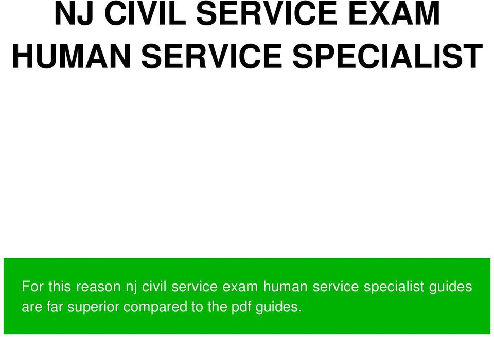 service exam human service specialist