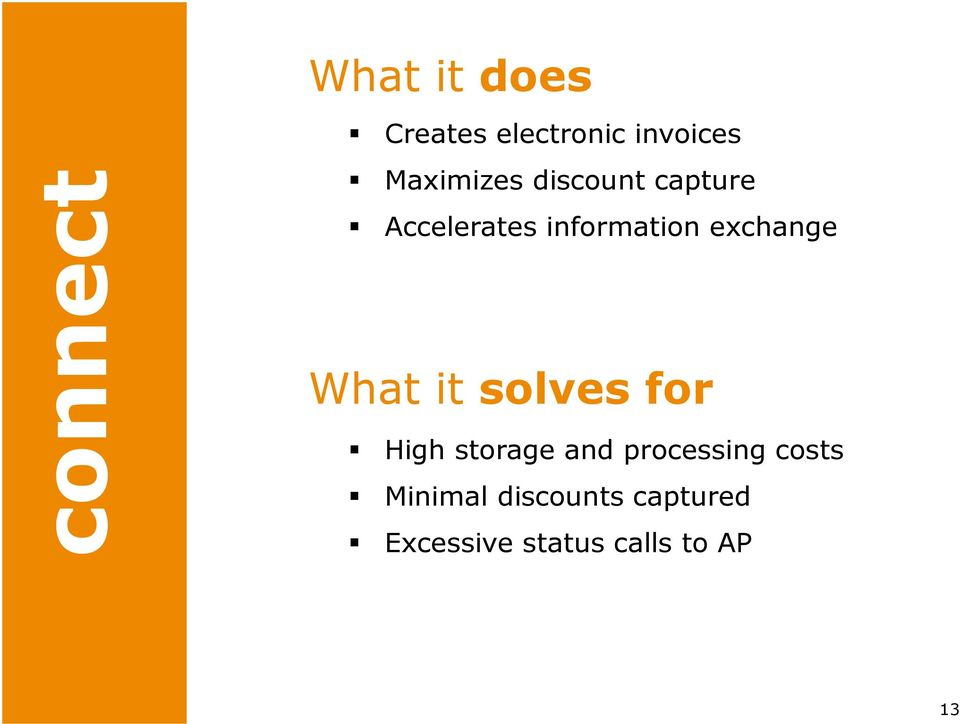 exchange What it solves for High storage and