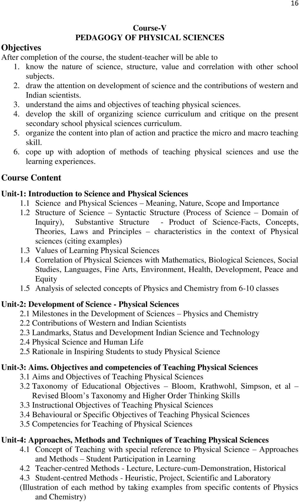 curriculum for two year secondary teacher education programme pdf understand the aims and objectives of teaching physical sciences 4 develop the skill of