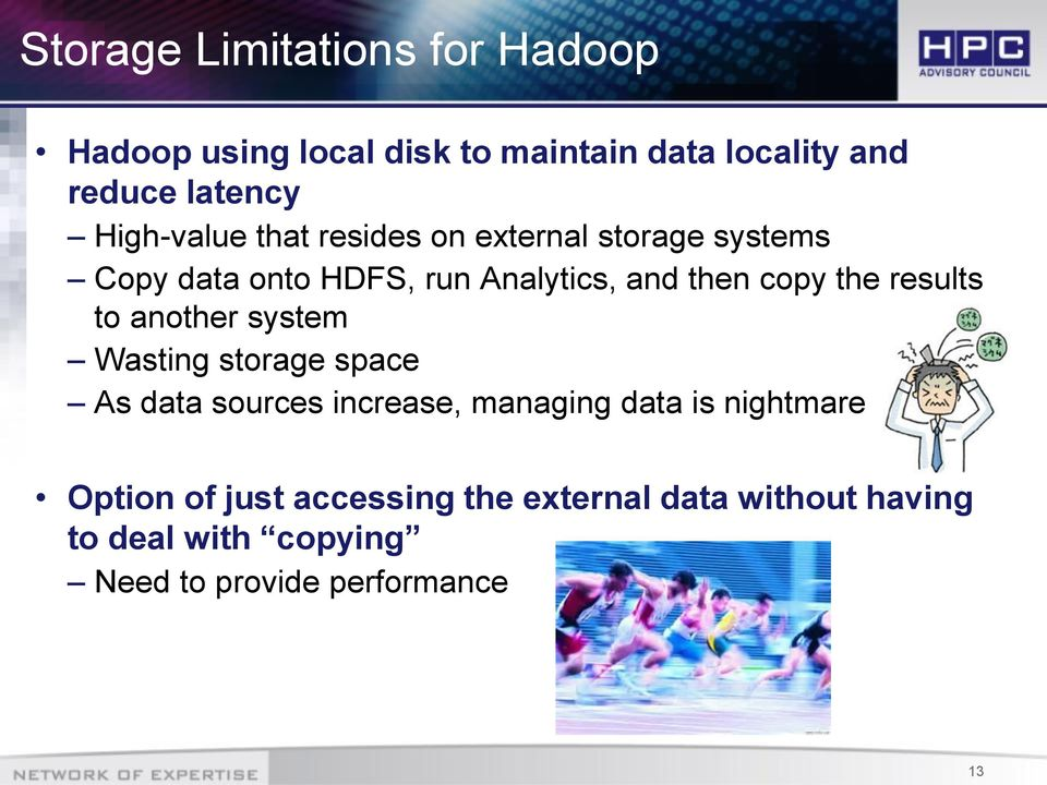 the results to another system Wasting storage space As data sources increase, managing data is