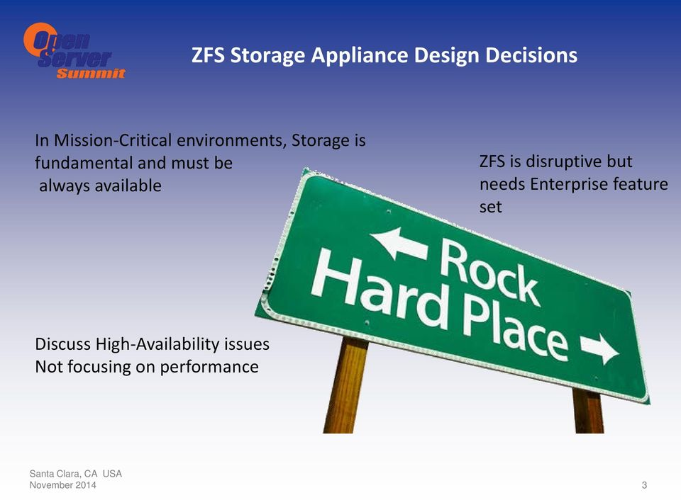 available ZFS is disruptive but needs Enterprise feature set