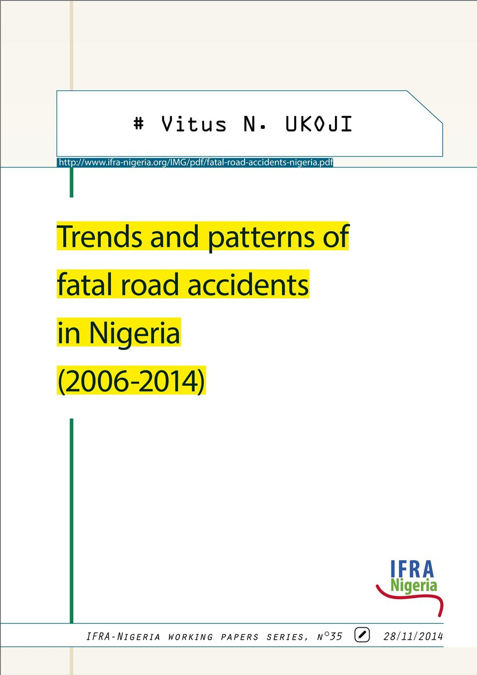 pdf Trends and patterns of fatal road accidents in
