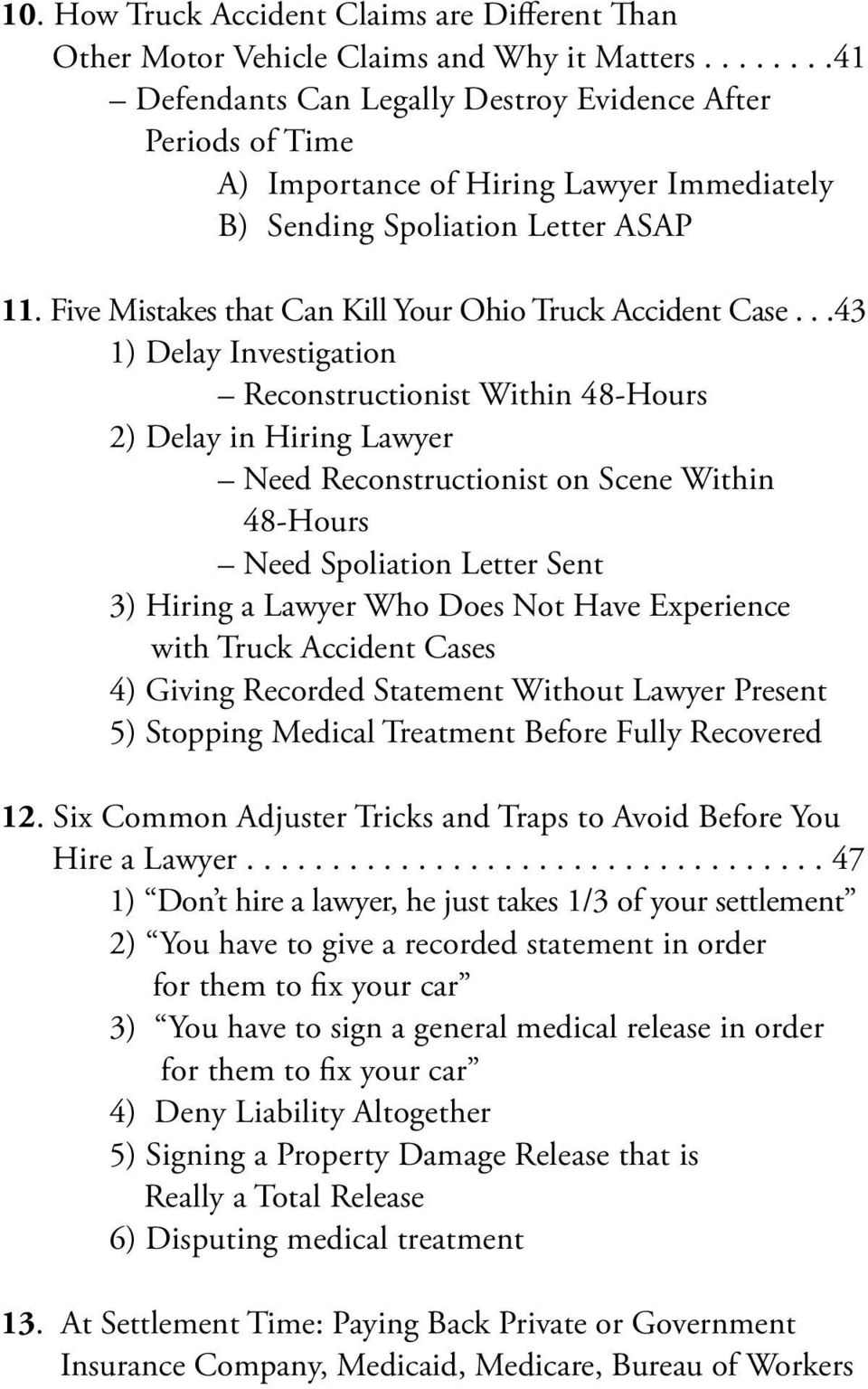 Five Mistakes that Can Kill Your Ohio Truck Accident Case.