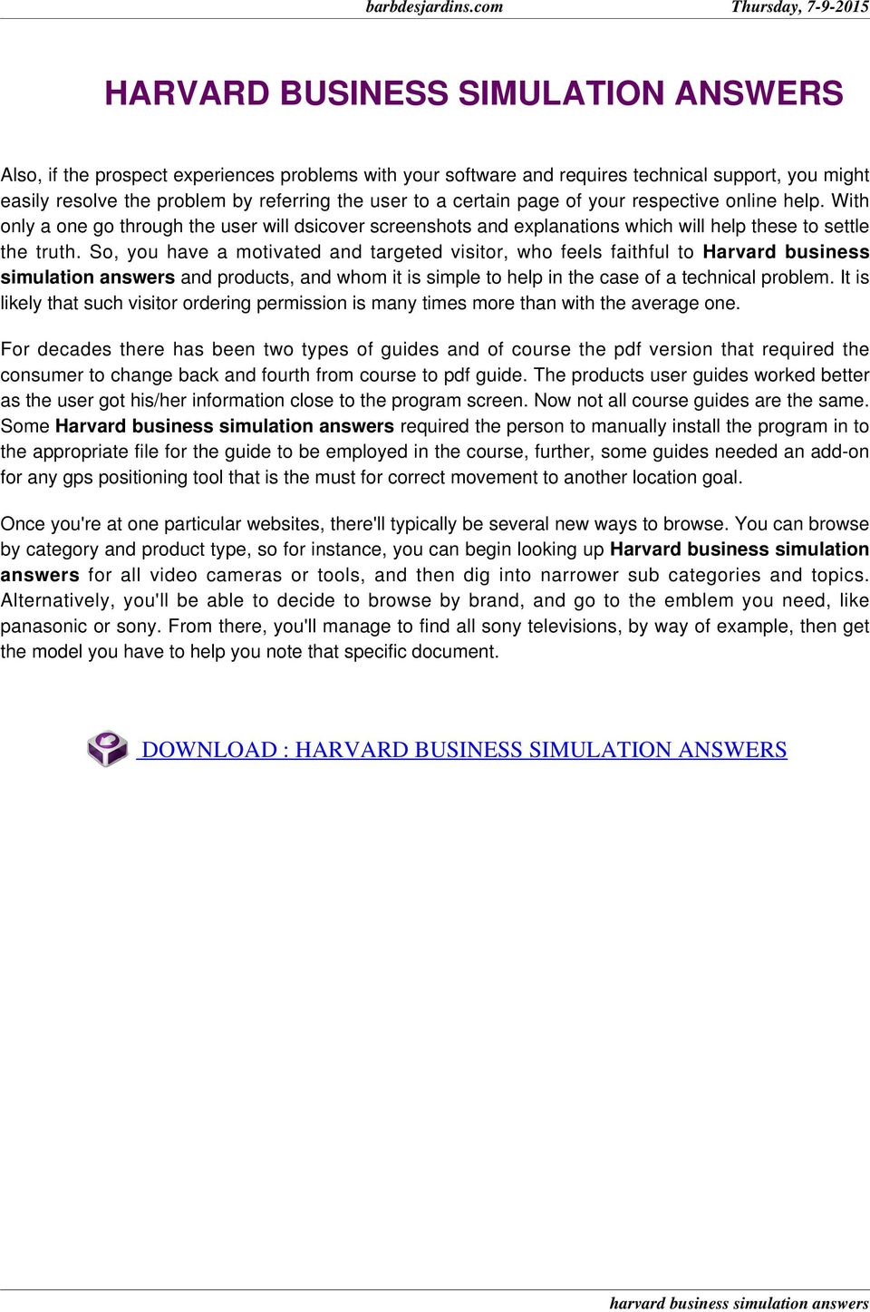 Harvard business cases free download