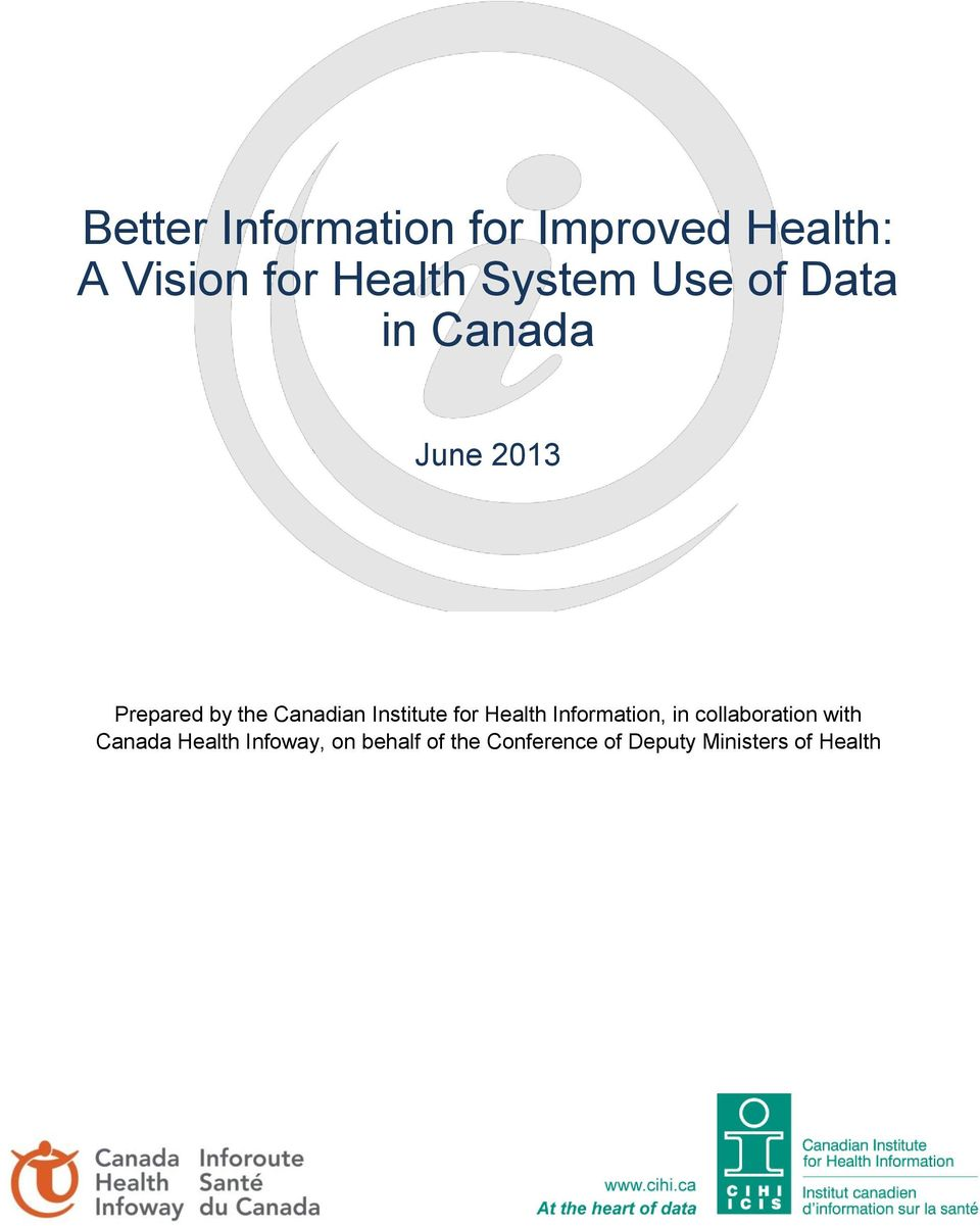Institute for Health Information, in collaboration with Canada