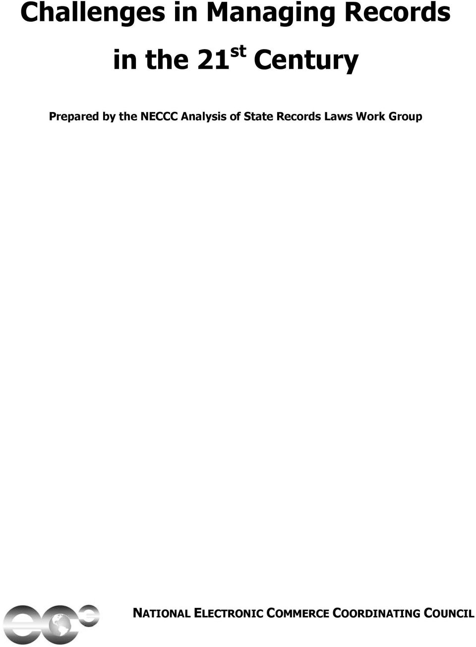 of State Records Laws Work Group NATIONAL