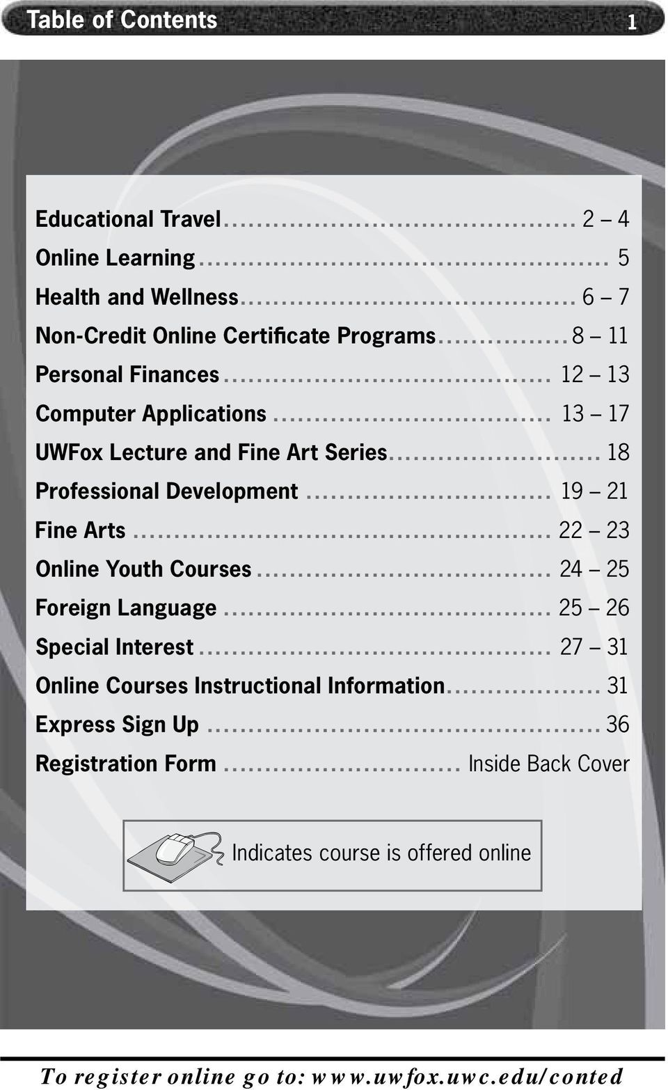 .. 19 21 Fine Arts... 22 23 Online Youth Courses... 24 25 Foreign Language... 25 26 Special Interest.