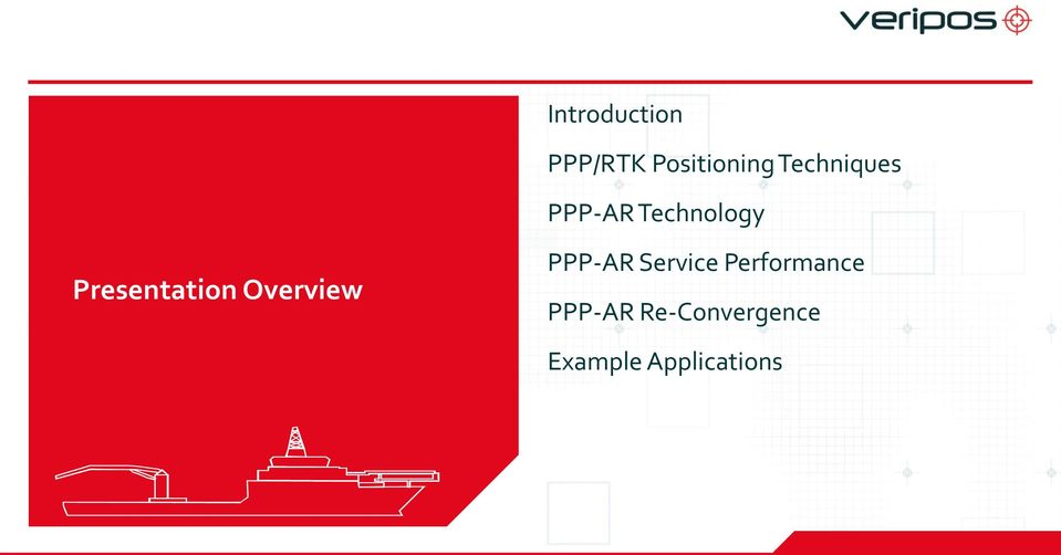 Presentation Overview PPP-AR Service