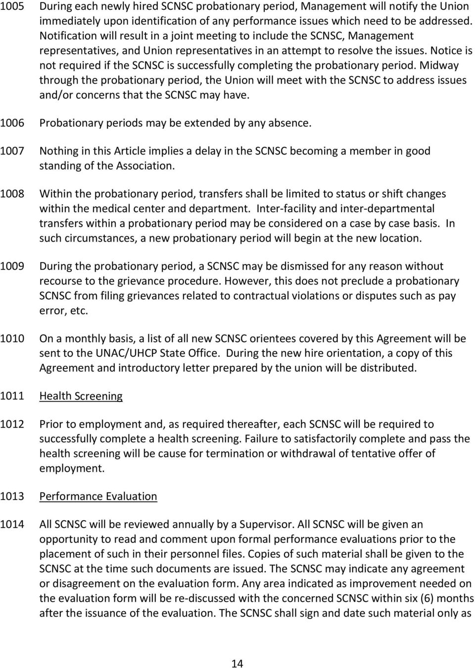 Kaiser unacuhcp labor management agreement between and pdf notice is not required if the scnsc is successfully completing the probationary period platinumwayz