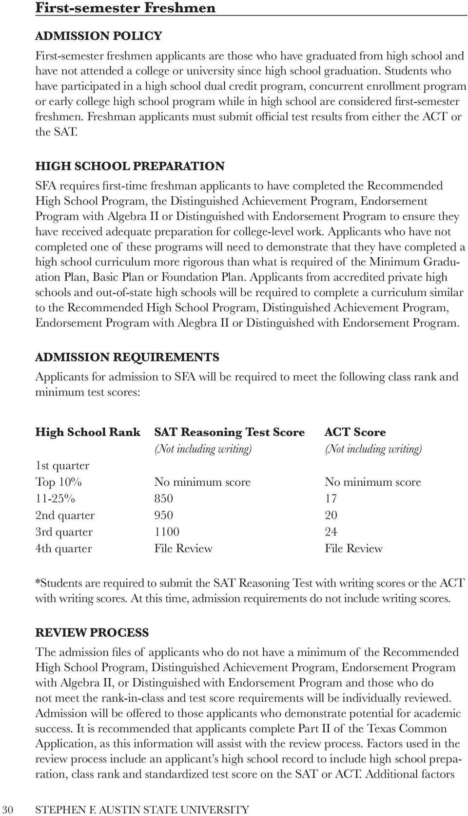 Freshman Applicants Must Submit Official Test Results From Either The Act  Or The Sat Office Of How To Calculate Gpa