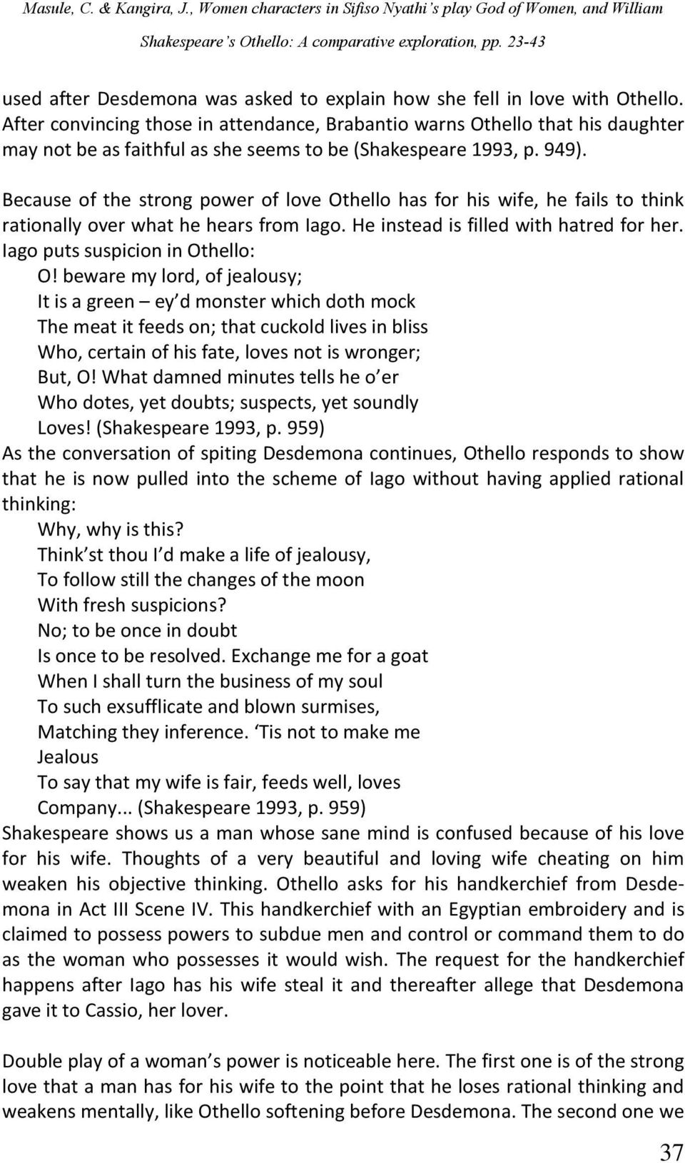aspects of love in othello quotes essay