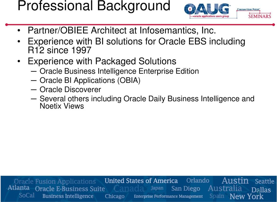 Packaged Solutions Oracle Business Intelligence Enterprise Edition Oracle BI
