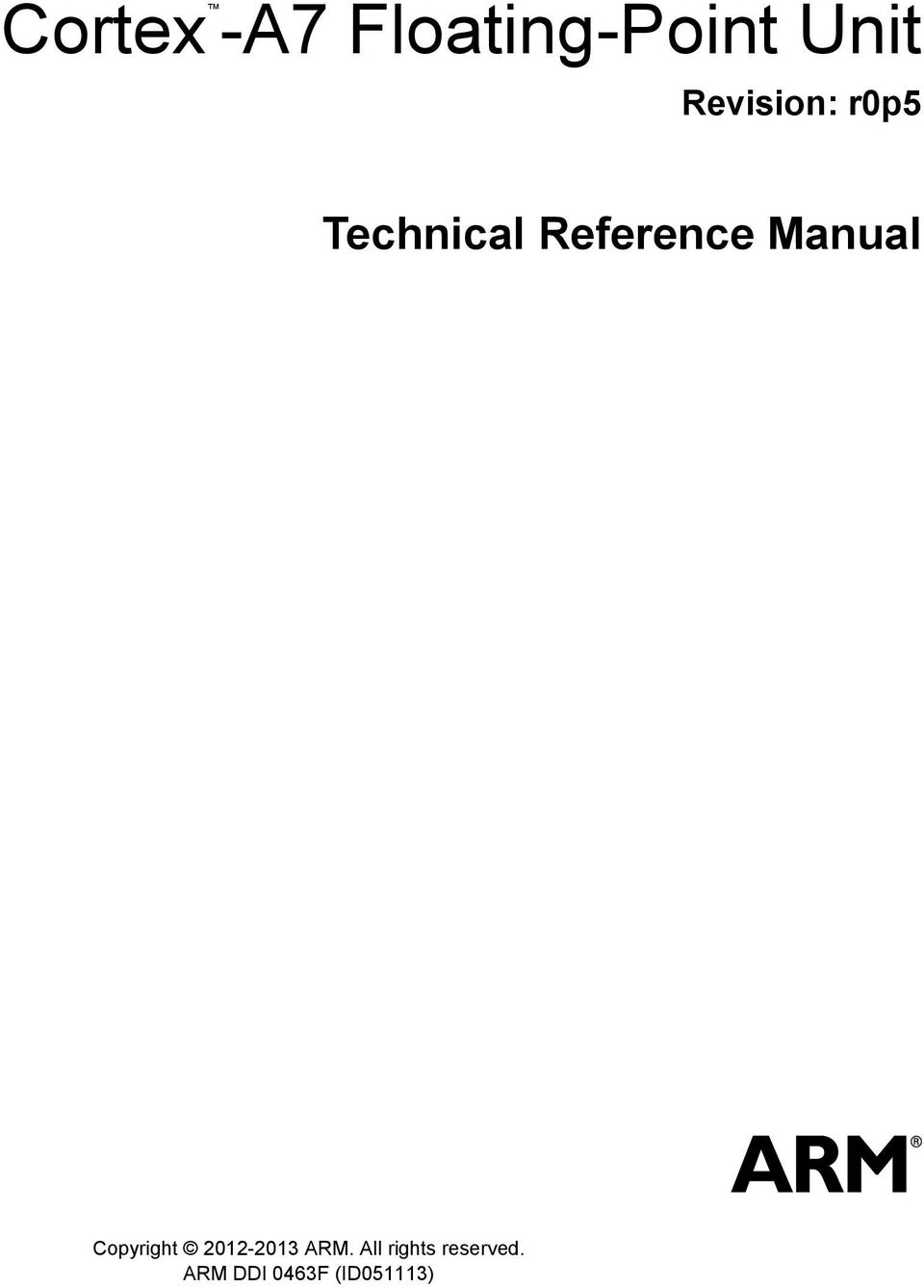 Reference Manual Copyright