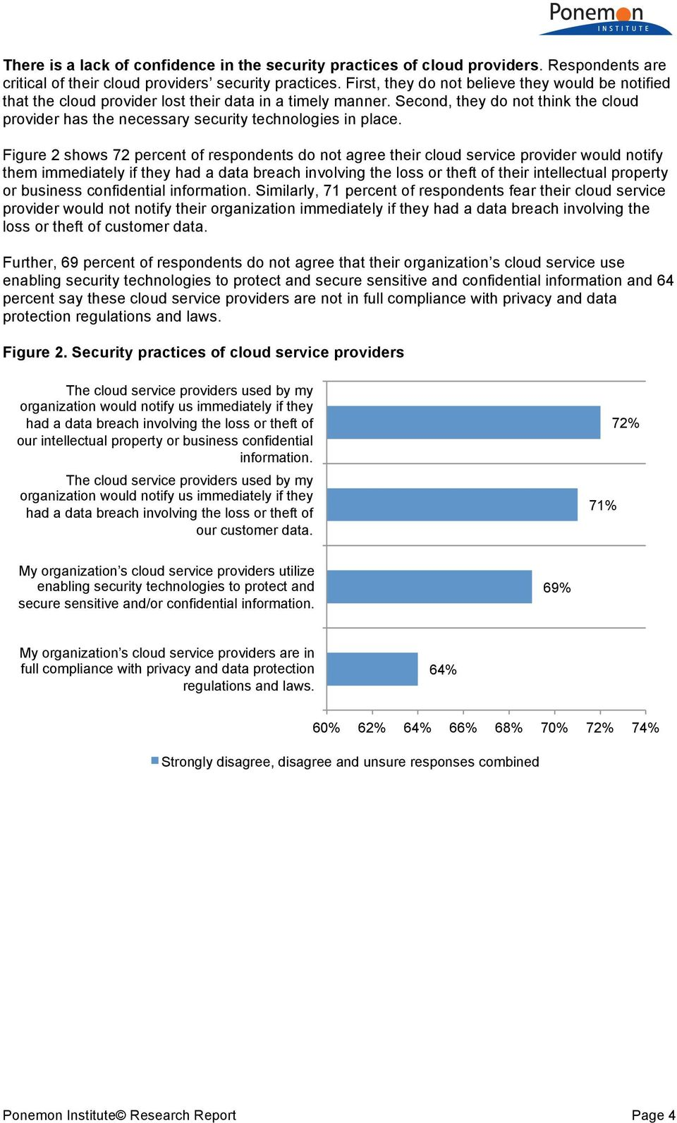 Second, they do not think the cloud provider has the necessary security technologies in place.