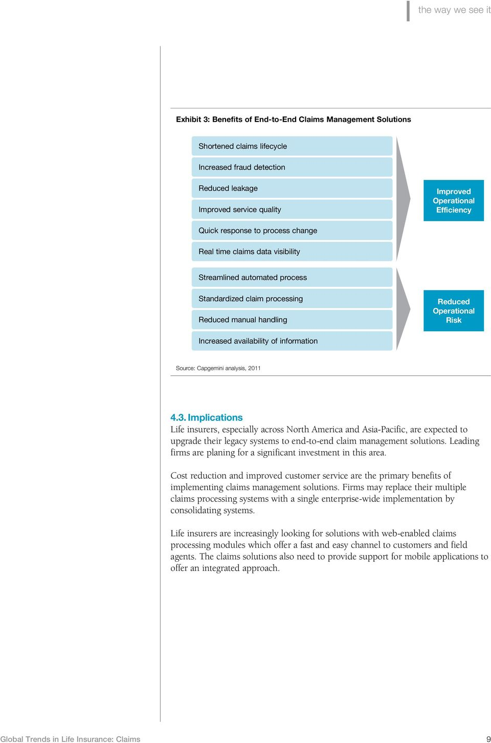 availability of information Source: Capgemini analysis, 2011 4.3.