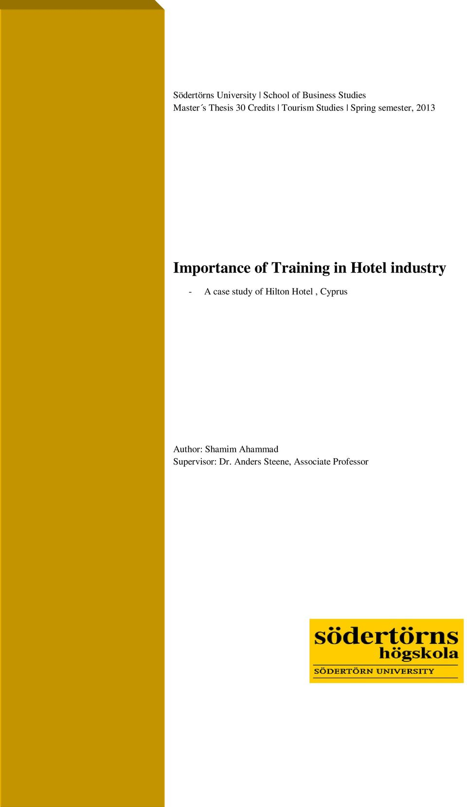 Thesis on hotel industry pdf