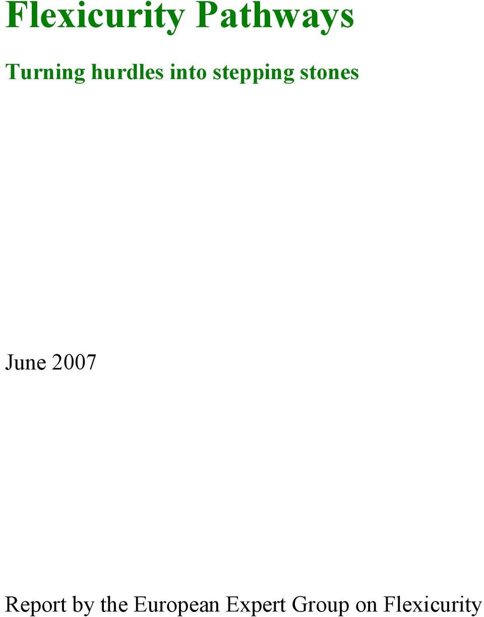 June 2007 Report by the