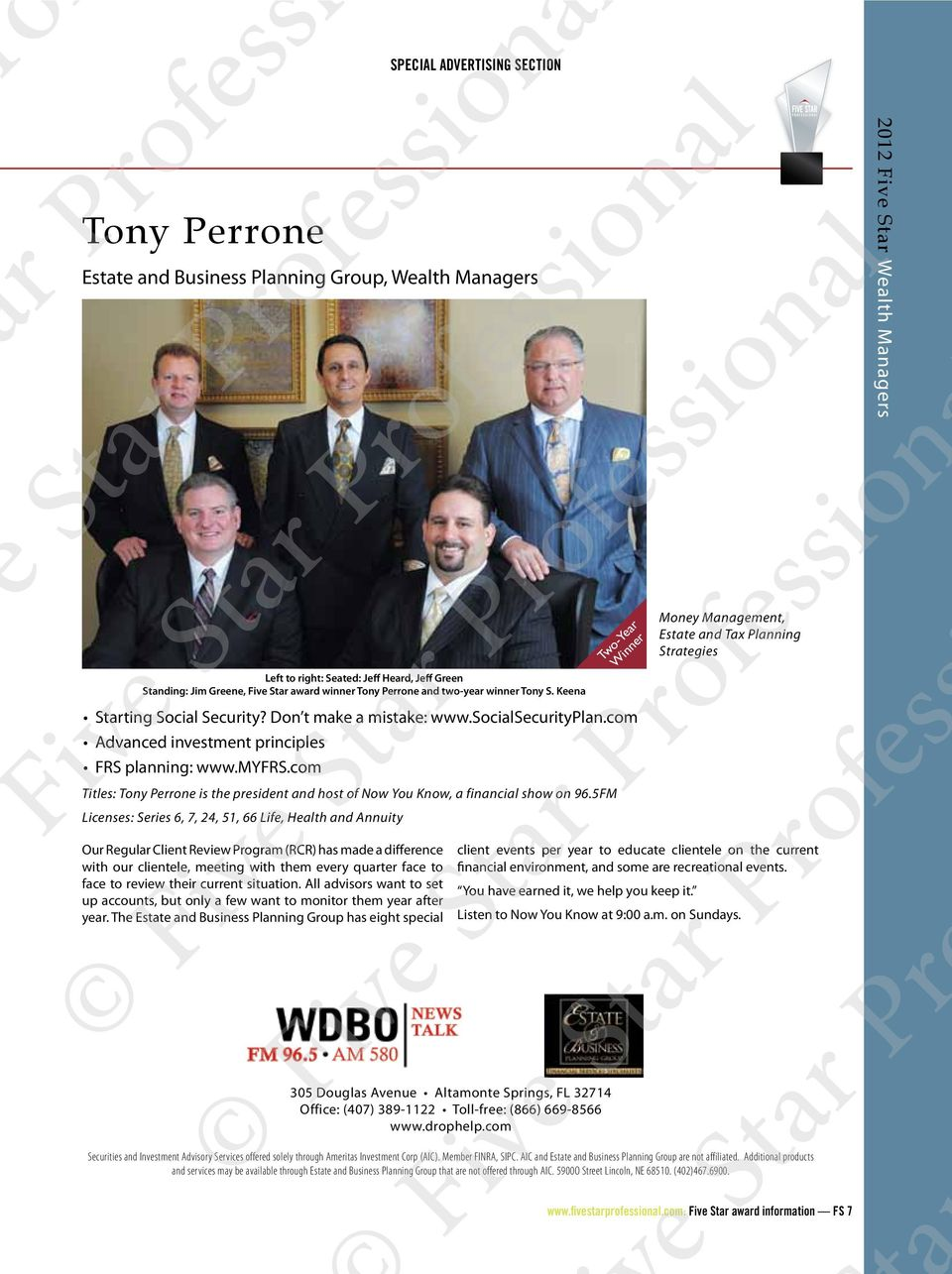 com Titles: Tony Perrone is the president and host of Now You Know, a financial show on 96.