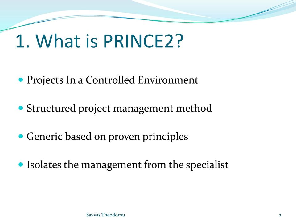 Structured project management method