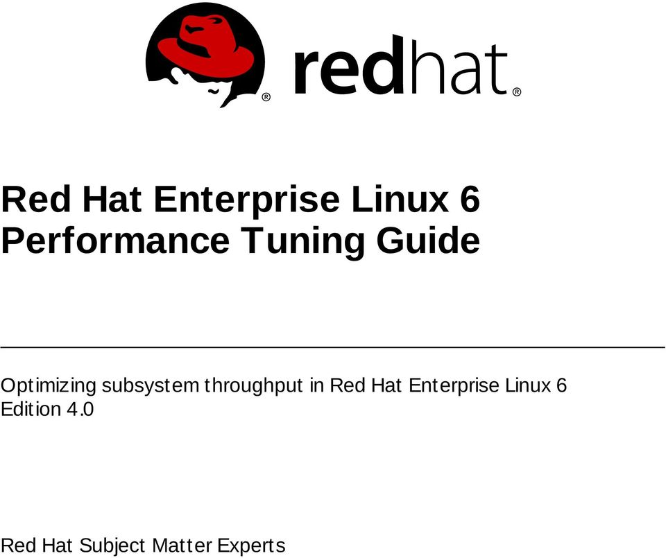 throughput in Red Hat Enterprise Linux