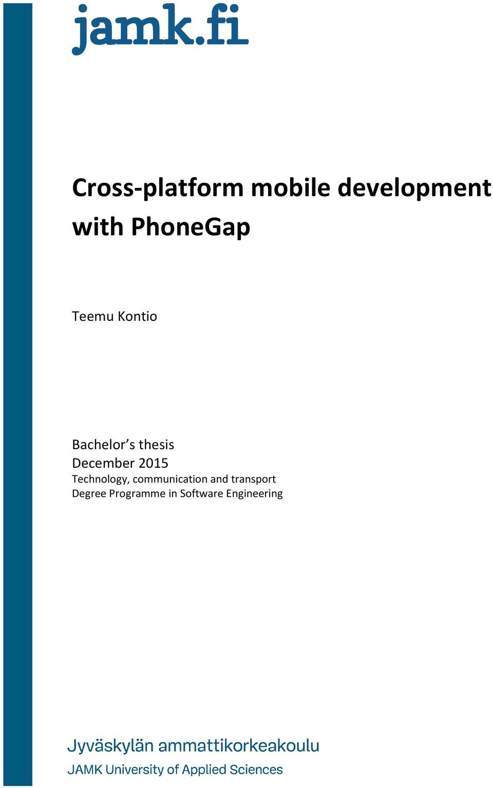 bachelor thesis phonegap
