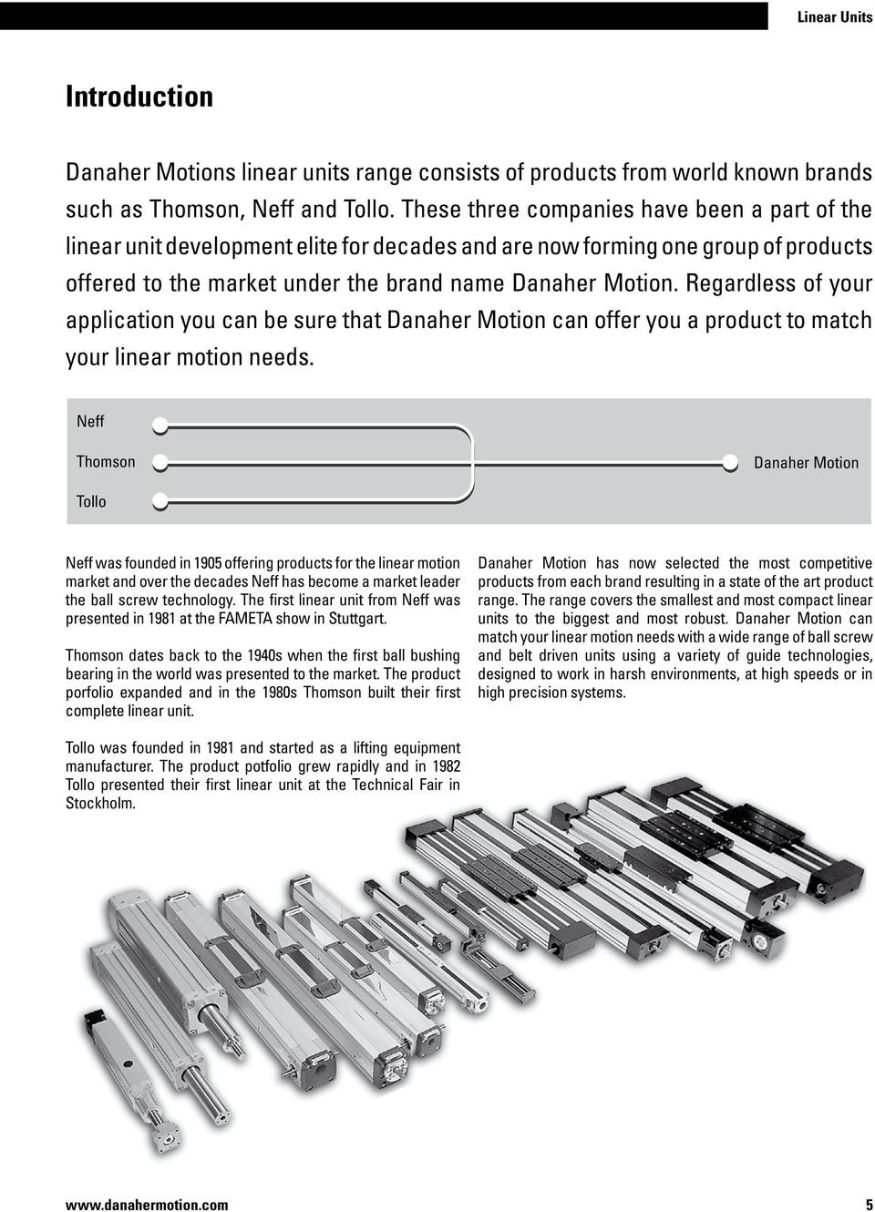 Regardless of your application you can be sure that Danaher Motion can offer you a product to match your linear motion needs.