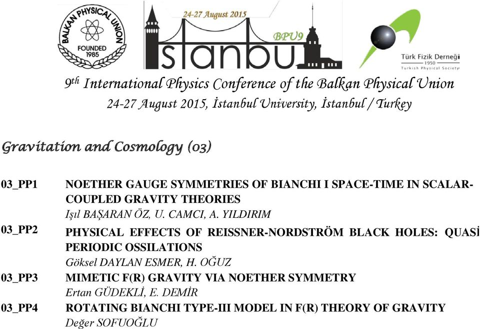 YILDIRIM PHYSICAL EFFECTS OF REISSNER-NORDSTRÖM BLACK HOLES: QUASİ PERIODIC OSSILATIONS Göksel DAYLAN