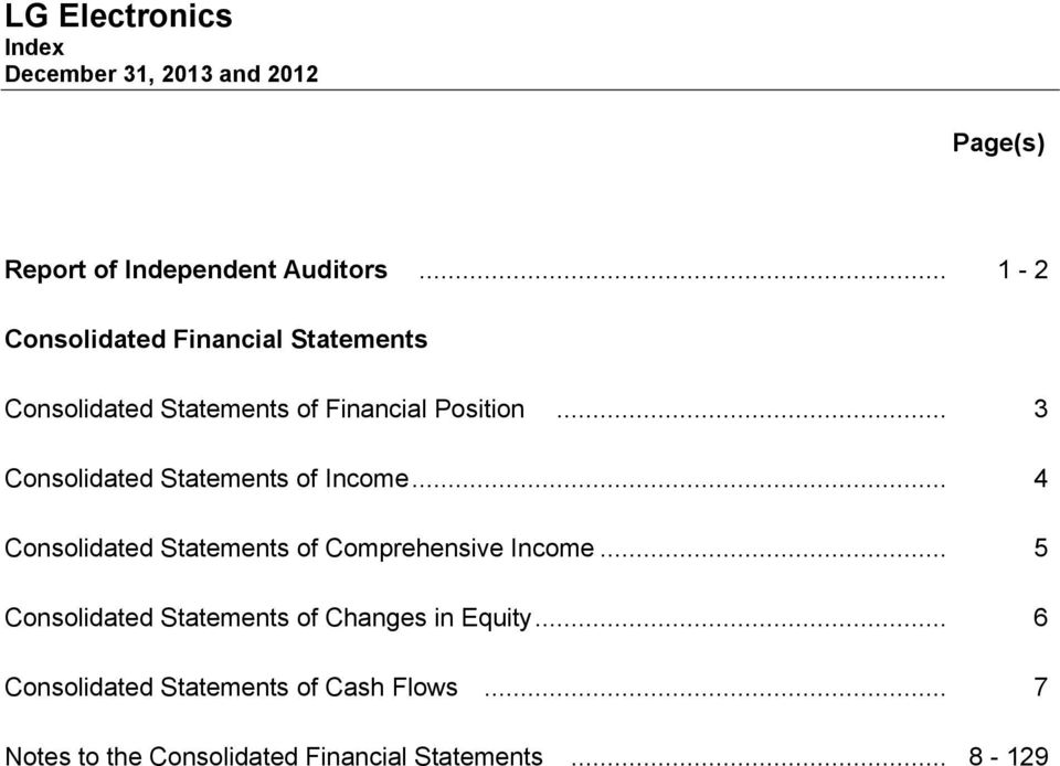 Position... 3 Consolidated Statements of Income.