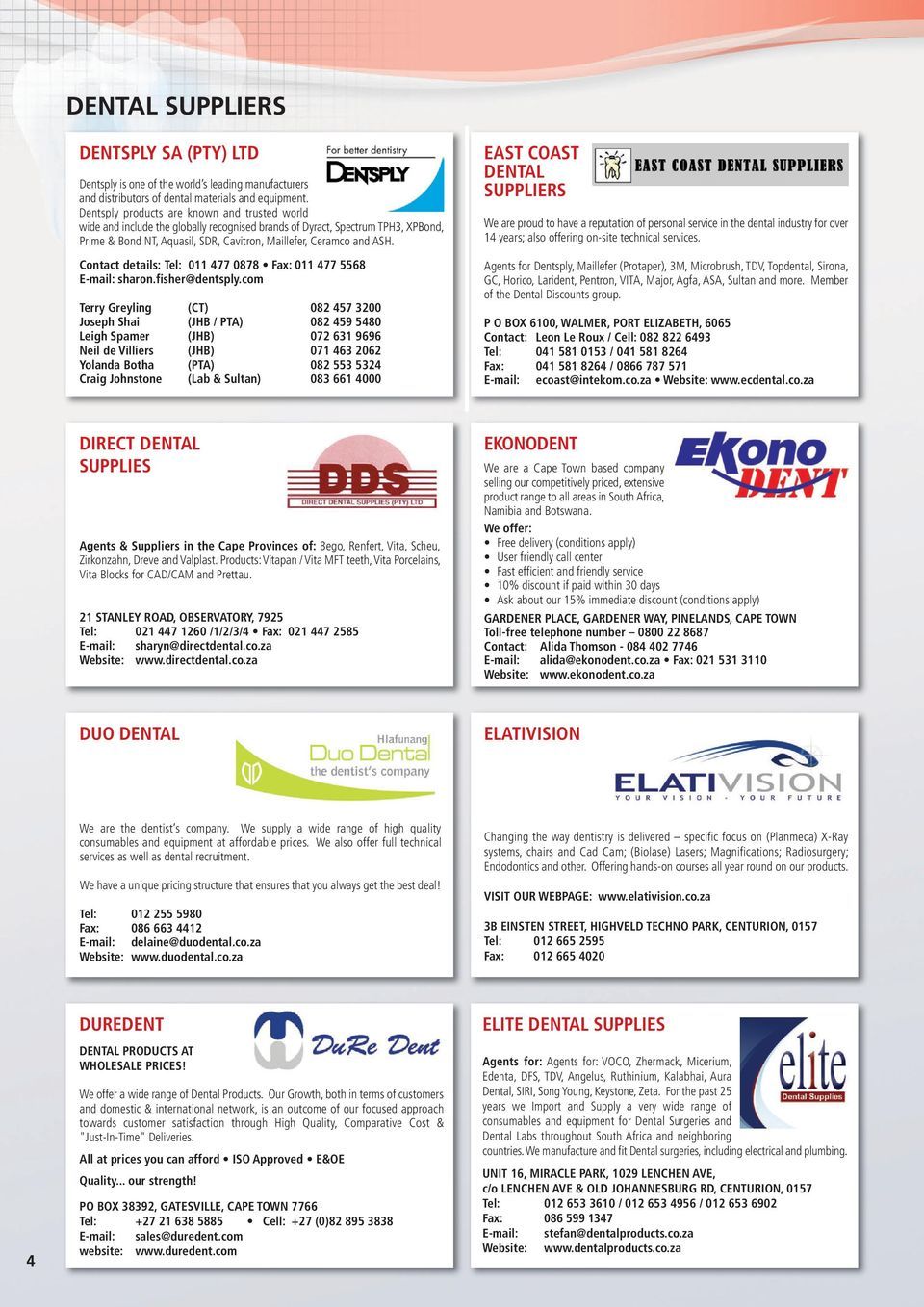 A z dental suppliers and laboratories pdf contact details tel 011 477 0878 fax 011 477 5568 e mail malvernweather Choice Image