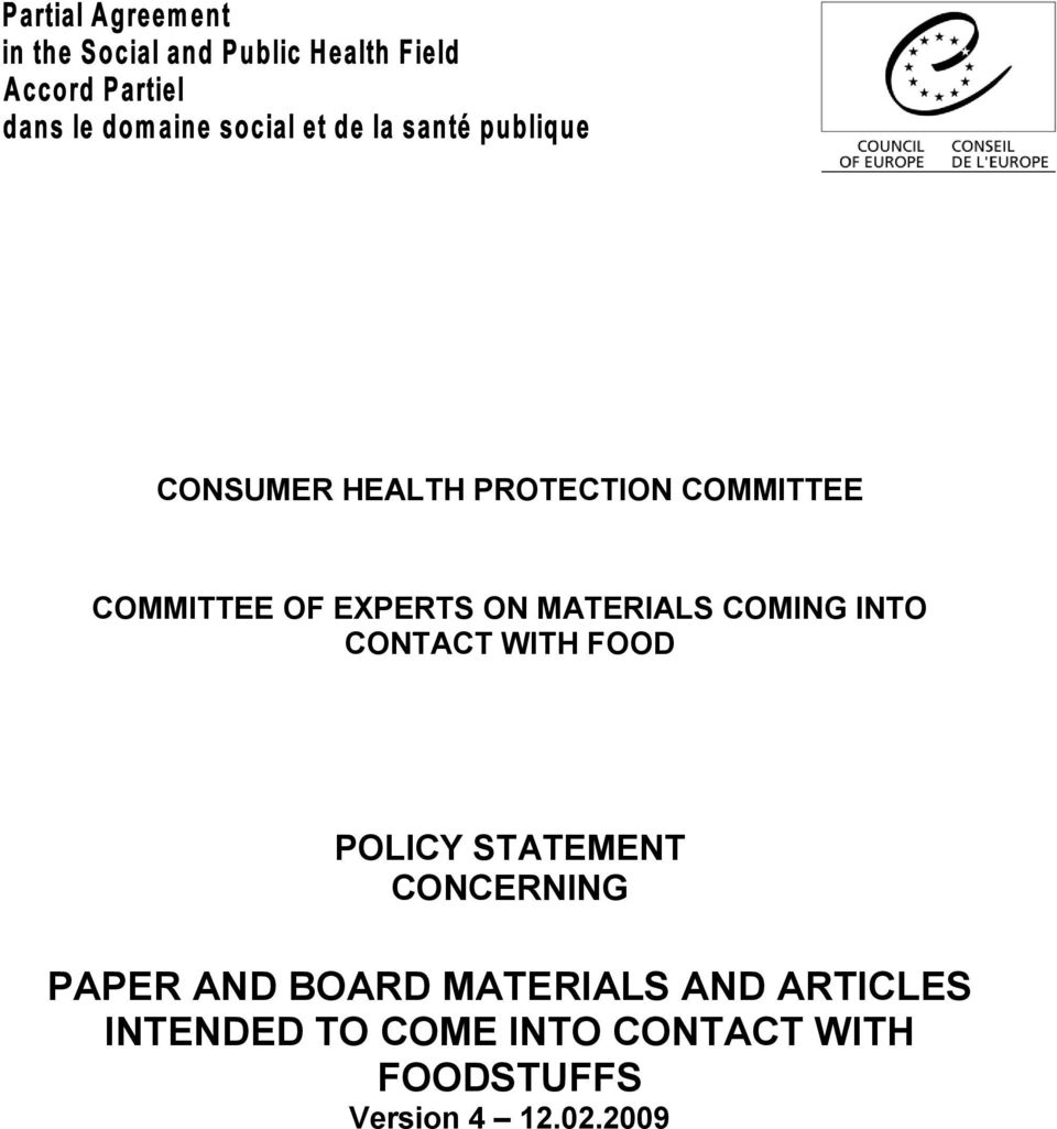 STATEMENT CONCERNING PAPER AND BOARD MATERIALS AND