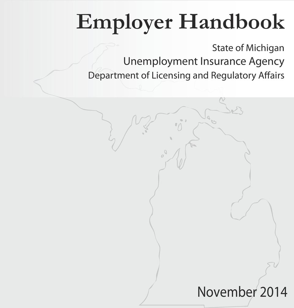 Employer handbook state of michigan unemployment insurance agency department of licensing and - Michigan unemployment office ...