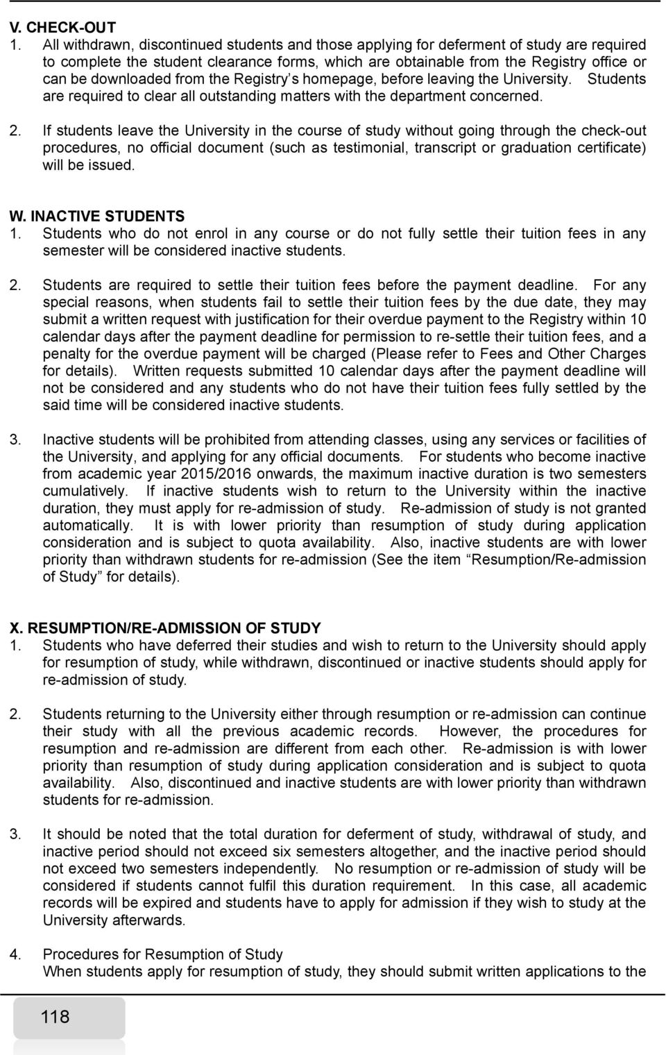 from the Registry s homepage, before leaving the University. Students are required to clear all outstanding matters with the department concerned. 2.