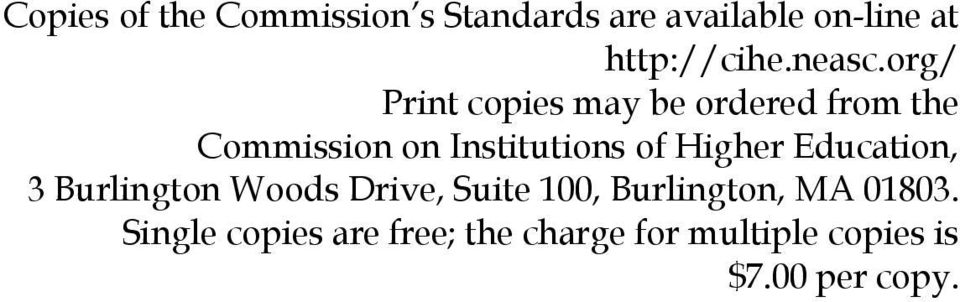 org/ Print copies may be ordered from the Commission on Institutions of