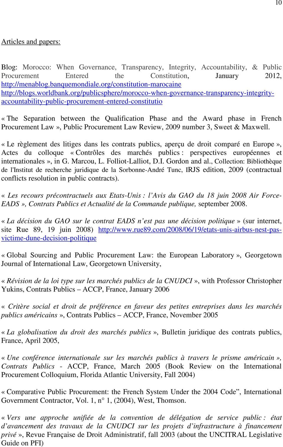 org/publicsphere/morocco-when-governance-transparency-integrityaccountability-public-procurement-entered-constitutio «The Separation between the Qualification Phase and the Award phase in French