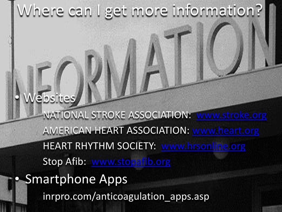 org AMERICAN HEART ASSOCIATION: www.heart.