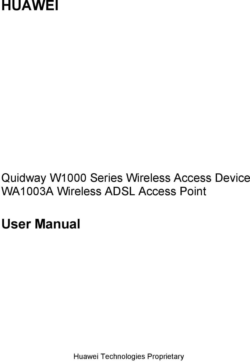 Device WA1003A Wireless