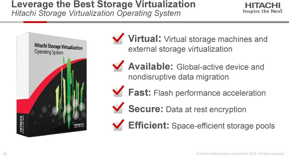 Available: Global-active device and nondisruptive data migration Fast: Flash