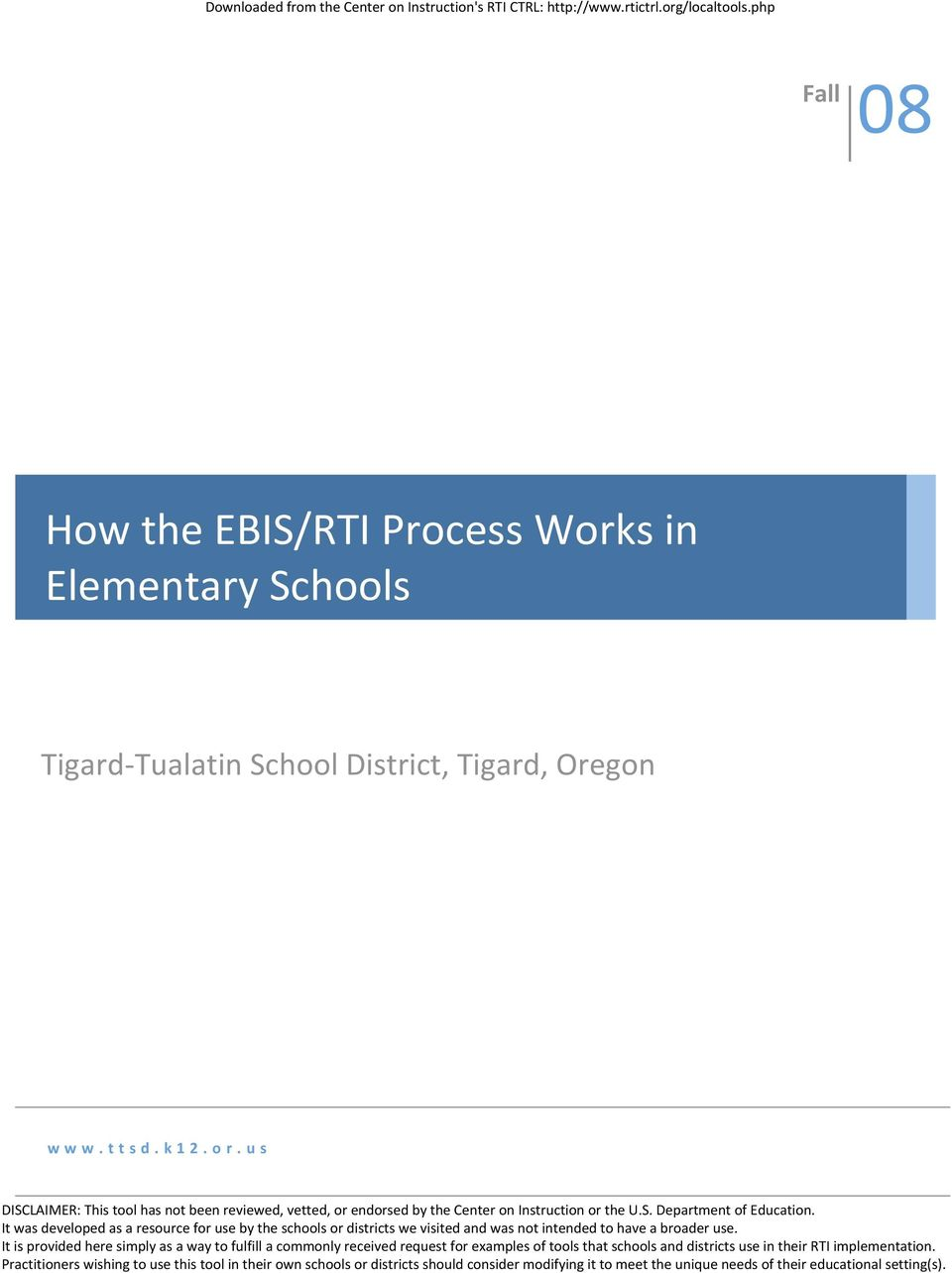 Tualatin School District, Tigard,
