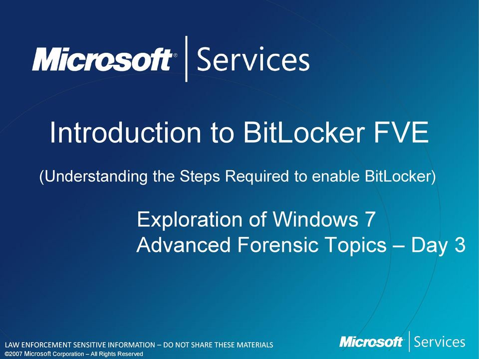 to enable BitLocker) Exploration