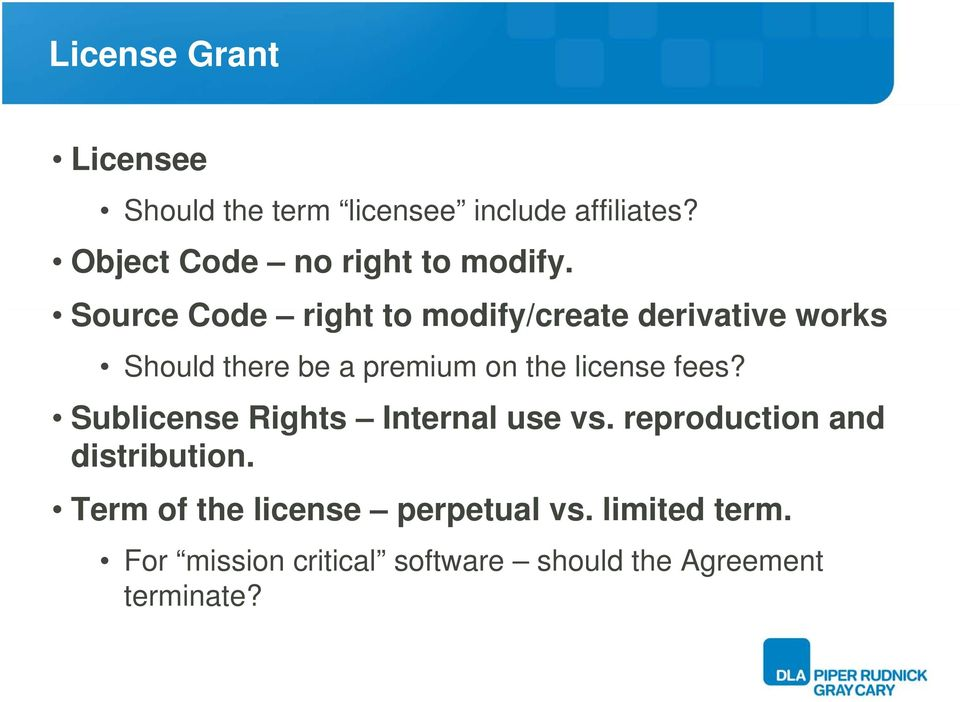 Software Licensing Basics Key Elements Of A Software License