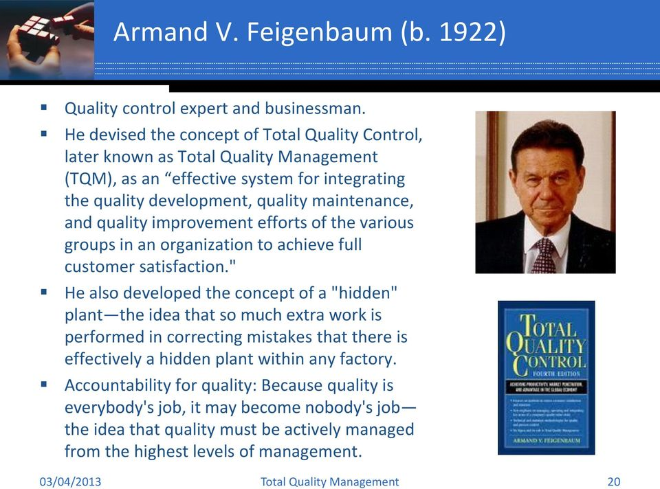quality improvement efforts of the various groups in an organization to achieve full customer satisfaction.
