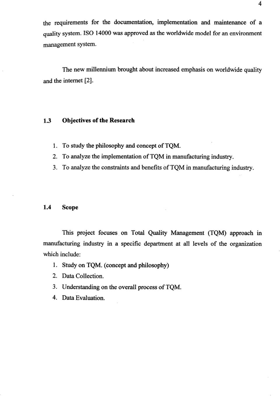 Phd Tqm Construction Management Dissertation Thesis