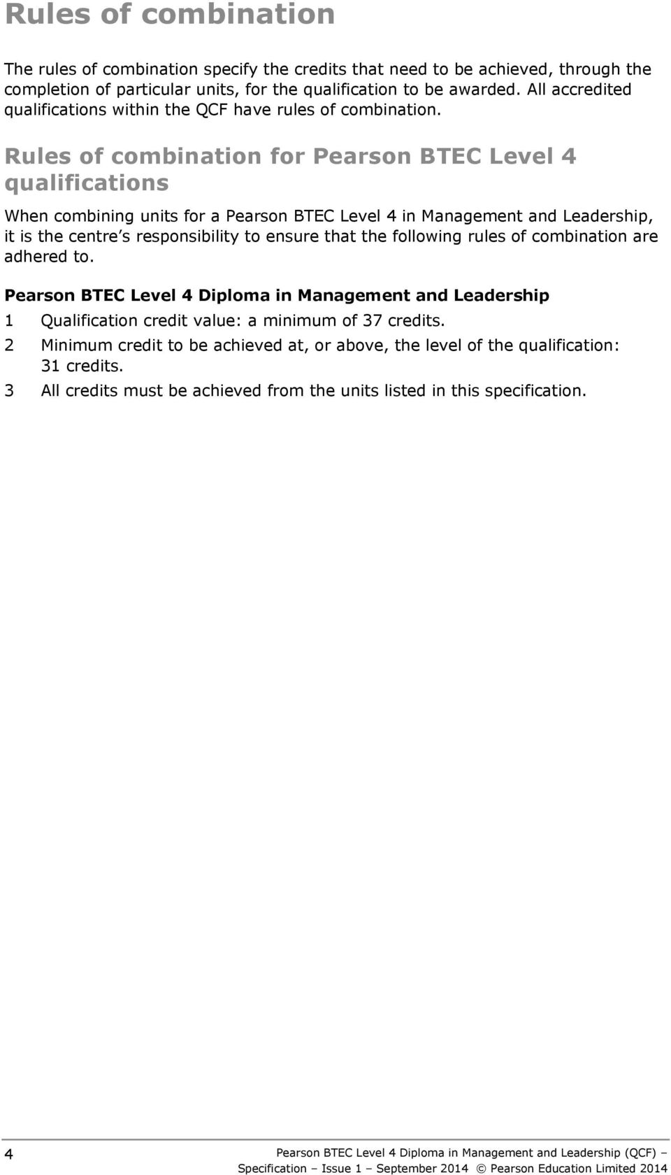 Pearson BTEC Level 4 HNC Diploma Applied Biology