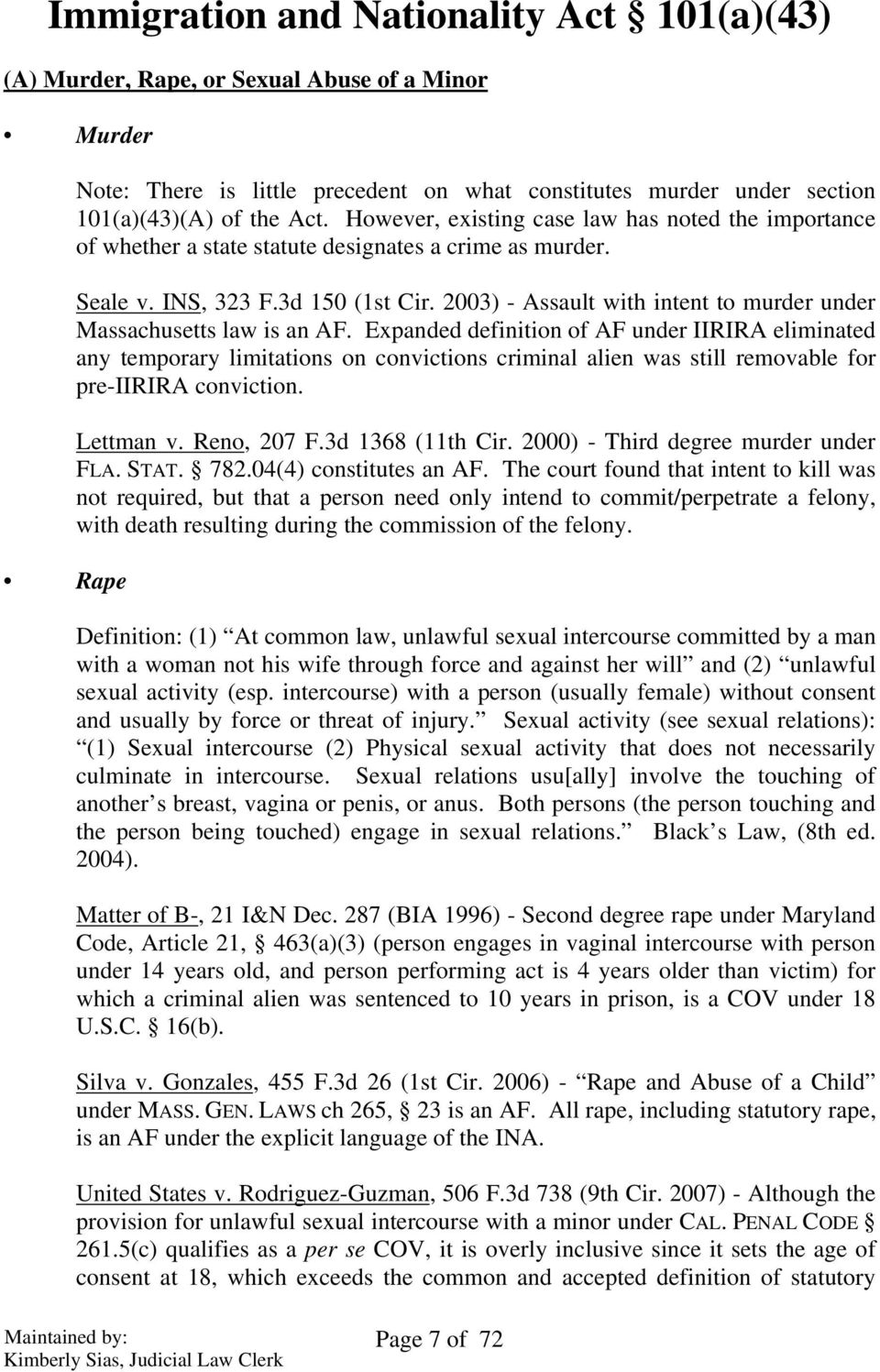 2003) - Assault with intent to murder under Massachusetts law is an AF.