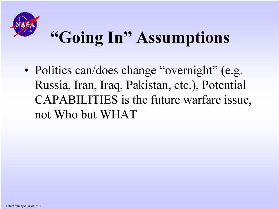 ), Potential CAPABILITIES is the future