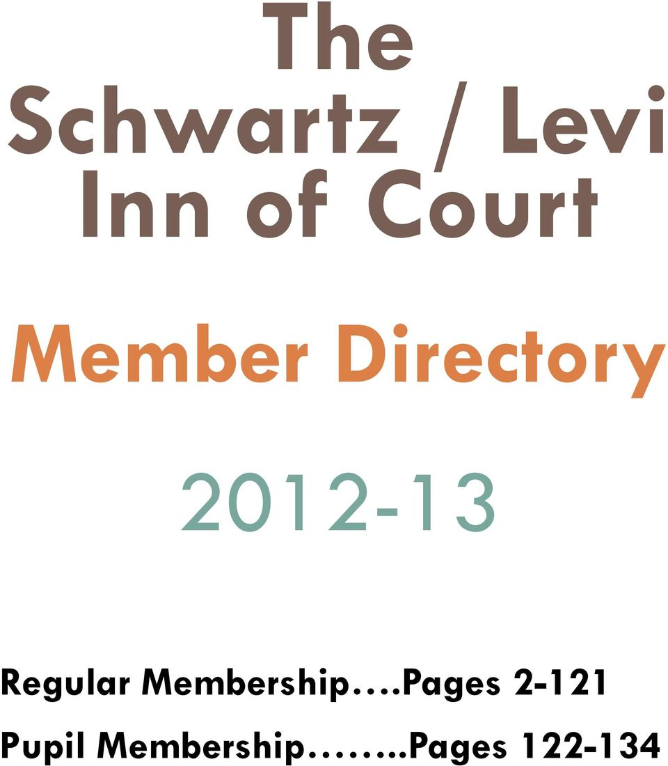 2012-13 Regular Membership.