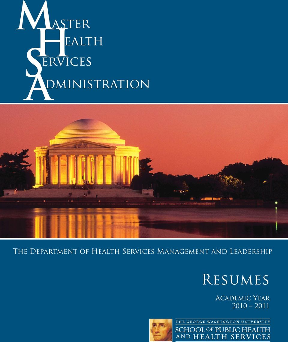 Health Services Management and