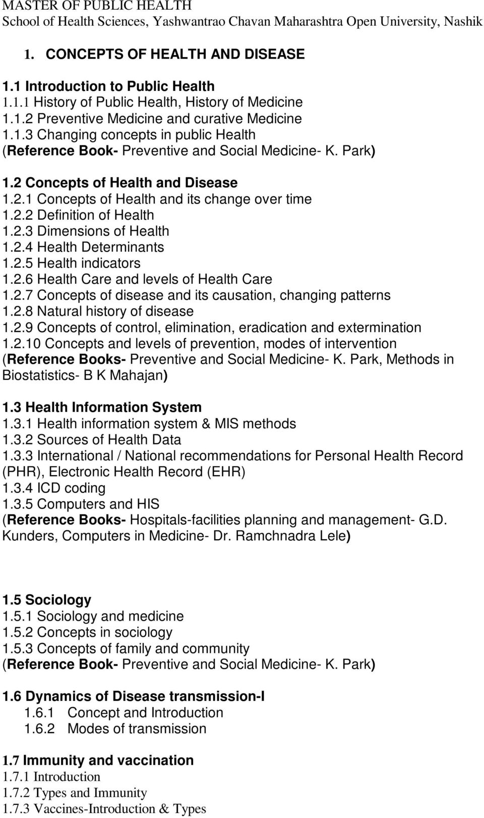 Master of public health school of health sciences yashwantrao 27 concepts of disease and its causation changing patterns 128 natural history of fandeluxe Images